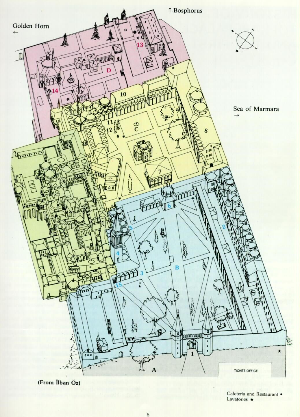 The plan of topkapi palace for Palace plan